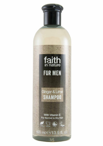 Faith In Nature - Ginger & Lime Shampoo for Men (400 ml)