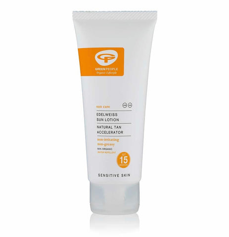Green People - Sun Lotion SPF15 (100 ml) With Natural Tan Accelerator