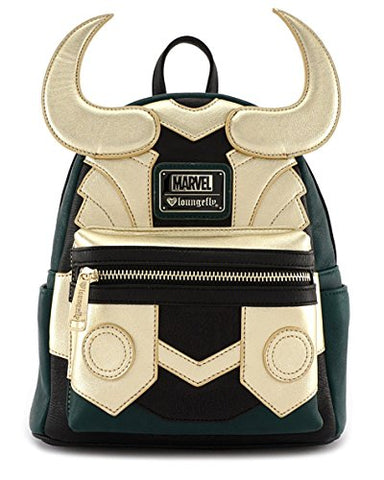 Avengers Loki Faux Leather Mini Loungefly Backpack Standard