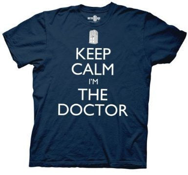 Doctor Who Keep Calm I'm The Doctor Mens T-shirt - Coast City Styles
