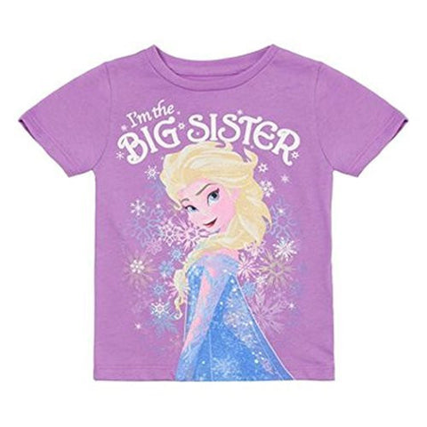 Disney Frozen Elsa I'm The Big Sister (Girls 2-7) T-shirt - Coast City Styles