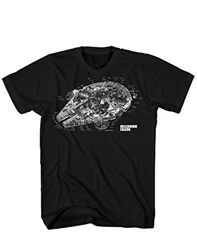 Star Wars  Millennium Falcon Revealed T-Shirt - Coast City Styles