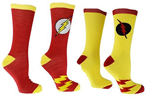 DC Comics Flash Reverse Flash 2 Pack Casual Crew Socks - Coast City Styles