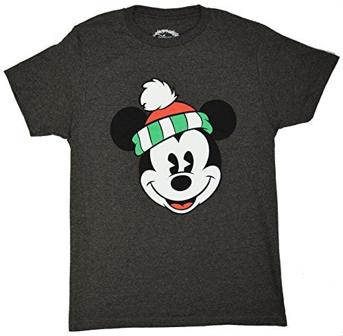 Disney Classic Christmas Holiday Mickey Mouse Smiling Face T-shirt