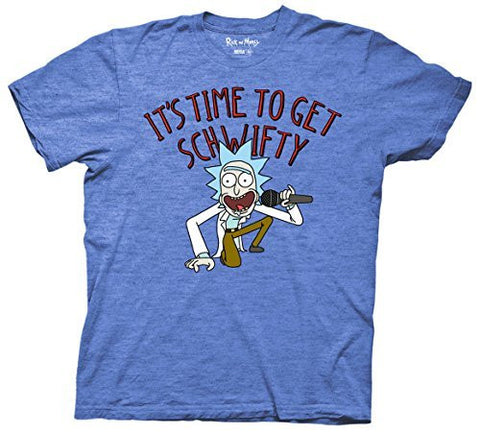 Rick And Morty It's Time to Get Schwifty Mens Adult T-shirt - Coast City Styles