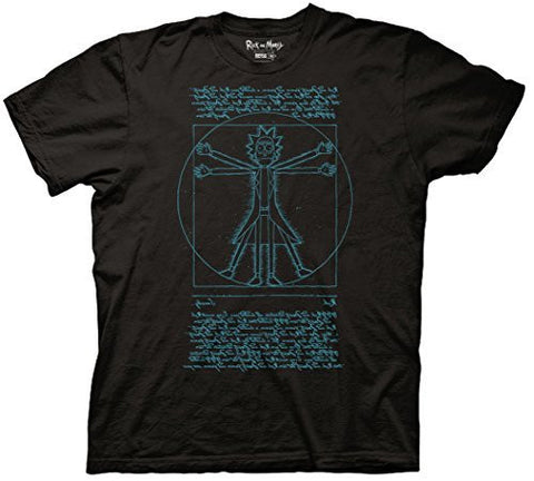 Rick and Morty Vitruvian Rick T-shirt