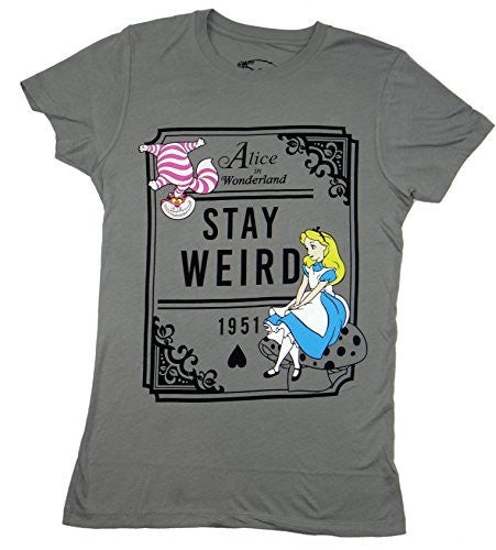 Alice In Wonderland Stay Weird Juniors T-shirt - Coast City Styles