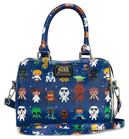 Loungefly Star Wars Baby Characters Pebble Crossbody Duffle Bag