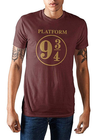 Harry Potter Platform 9 3/4 Mens Maroon T-Shirt