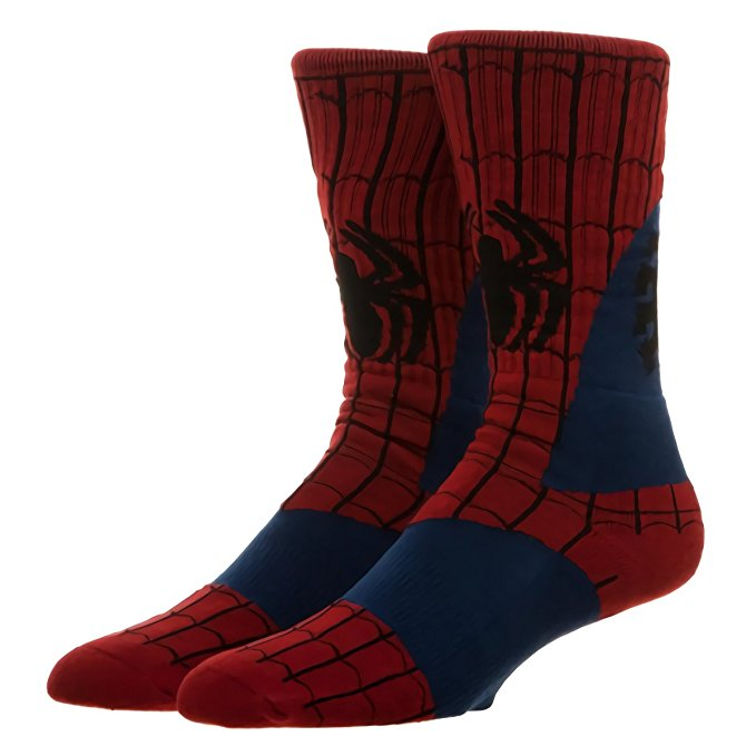 Marvel Spiderman Suit Up Crew Socks