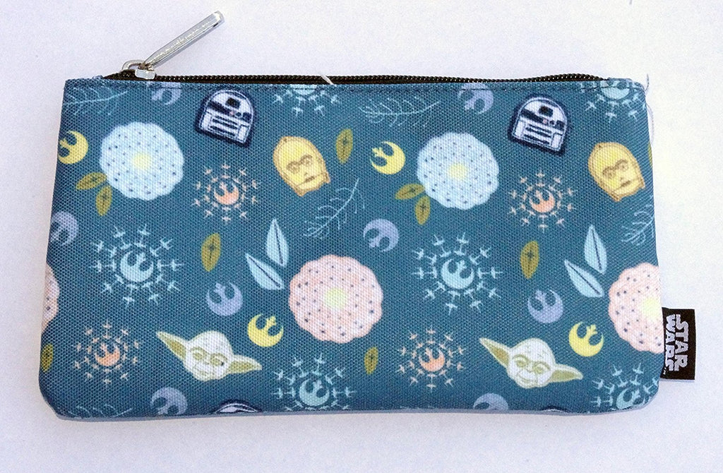Loungefly Star Wars Bloom R2-D2 C-3PO Pencil Case Cosmetic Bag