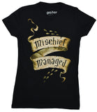 Harry Potter Marauders Map Mischief Managed Juniors T-shirt