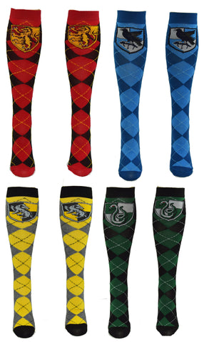 Harry Potter Gryffindor Slytherin Ravenclaw Hufflepuff School Uniform Knee High Socks