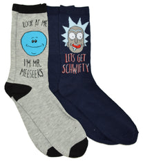 Rick and Morty Meeseeks Schwifty 2 Pack mens Crew Socks