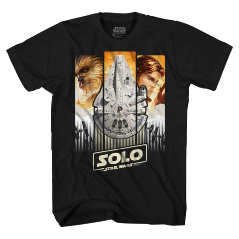 Star Wars Han Solo Story Chewie Movie Poster Adult T-Shirt