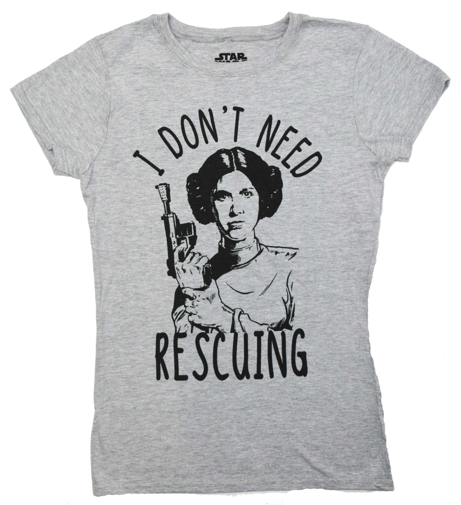 Star Wars Princess Leia Don't Need Rescuing Juniors T-shirt
