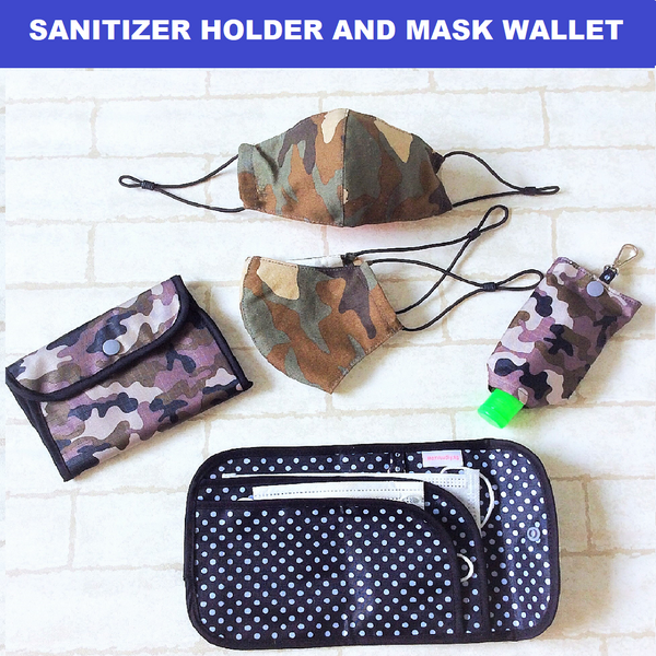 COVID 19 ESSENTIALS | MASK WALLET | SANITIZER HOLDER | HANDMADE MASK