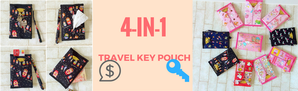 4-in-1 Travel Key Pouch