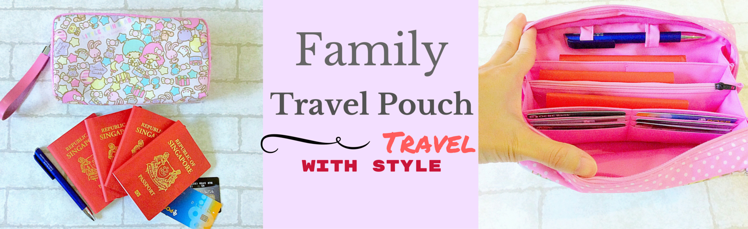 Family Passport Travel Pouch