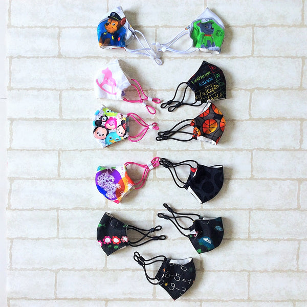 KIDS SIZE (Up to 6YO) : HANDMADE MASK READY STOCK | FREE 10 PIECES OF FILTER | Design 3B13