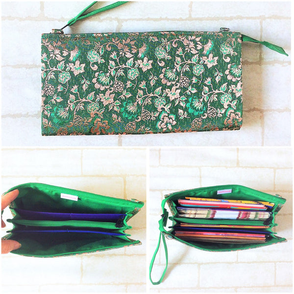 SLIM Green Packet Organizer | Hari Raya Packet Organiser | Hari Raya Bag | Slim Organiser 70 Green Packets | Slim Hari Raya Design 1B14