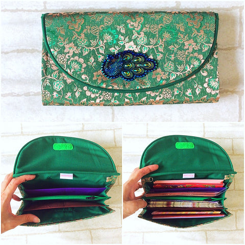 FLAP Hari Raya Green Packet Organizer |  Pouch for Green Packets | Flap Organiser 50 Green Packets | Flap Hari Raya Design 1B21