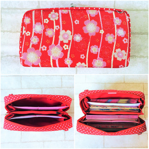 SPACIOUS Hong Bao Organizer | Ang Pao Wallet | Spacious Organizer 100 Red Packets | Spacious Floral Design 16B03