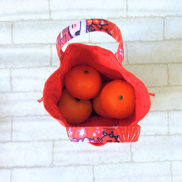 Mandarin Orange Carrier | Carrier for 4 Oranges | Chinese New Year Carrier | Orange Carrier Kimmidoll Design 18B29