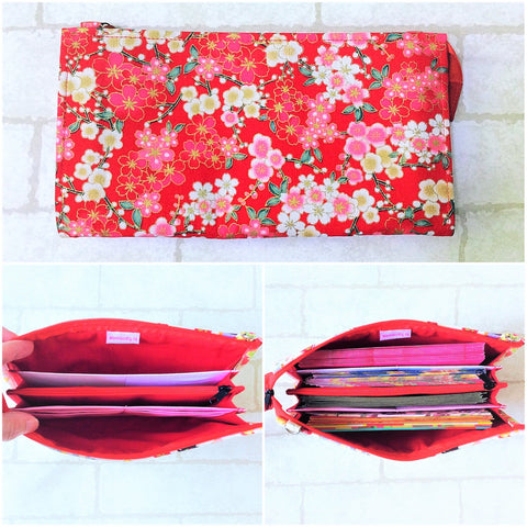 SLIM Red Packet Organizer | Ang Pow Organiser | Slim Organiser 70 Red Packets | Slim Floral Design 18B07