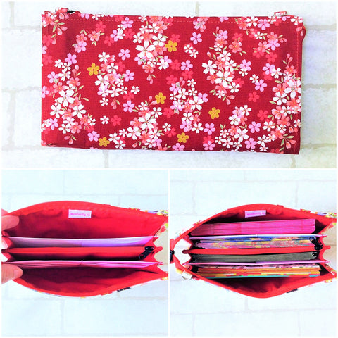 SLIM Red Packet Organizer | Ang Pow Organiser | Slim Organiser 70 Red Packets | Slim Floral Design 14B06
