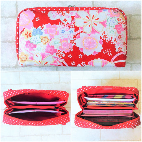 SPACIOUS Hong Bao Organizer | Ang Pao Wallet | Spacious Organizer 100 Red Packets | Floral Design 13B04