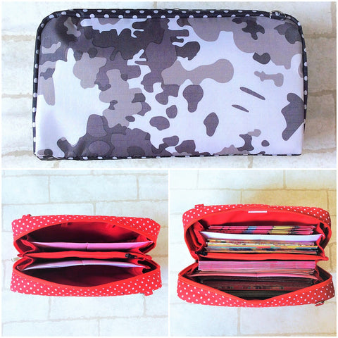 WATERPROOF SPACIOUS Hong Bao Organizer | Ang Pao Wallet | Spacious Organizer 100 Red Packets | Spacious Army Print Design 17B07