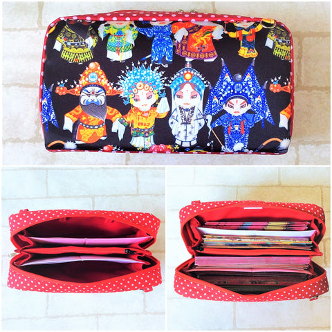 WATERPROOF SPACIOUS Hong Bao Organizer | Ang Pao Wallet | Spacious Organizer 100 Red Packets | Spacious Wayang Design 16B09