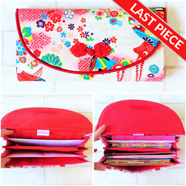 FLAP Ang Bao Organizer |  Pouch for Red Packets | Flap Organiser 50 Red Packets | Flap Jap Flora Design 20B05