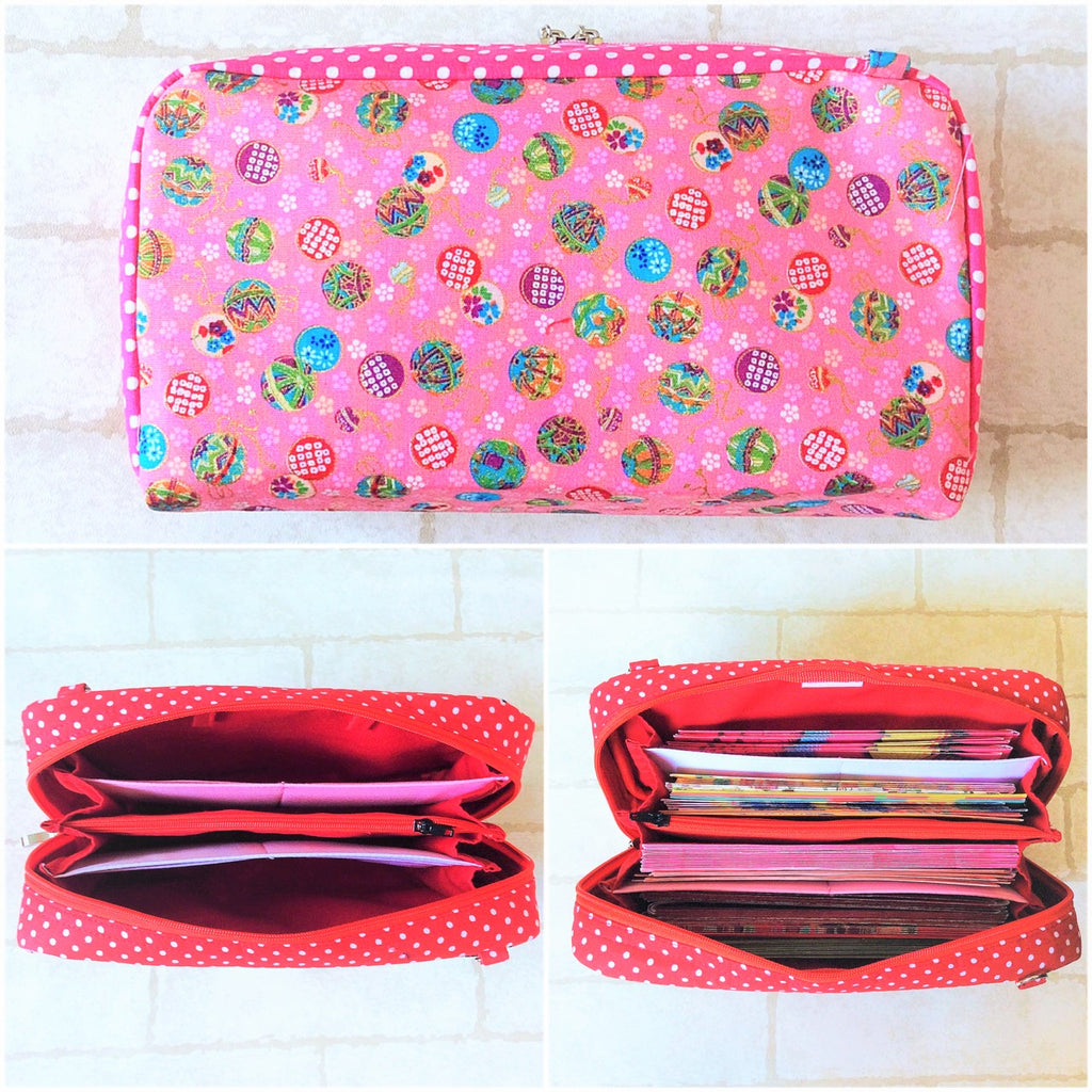 SPACIOUS Hong Bao Organizer | Ang Pao Wallet | Spacious Organizer 100 Red Packets | Floral Design 13B09