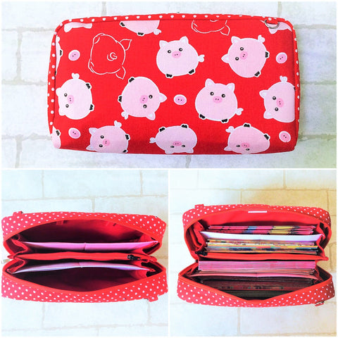 SPACIOUS Hong Bao Organizer | Ang Pao Wallet | Spacious Organizer 100 Red Packets | Spacious Pig Design 15B09