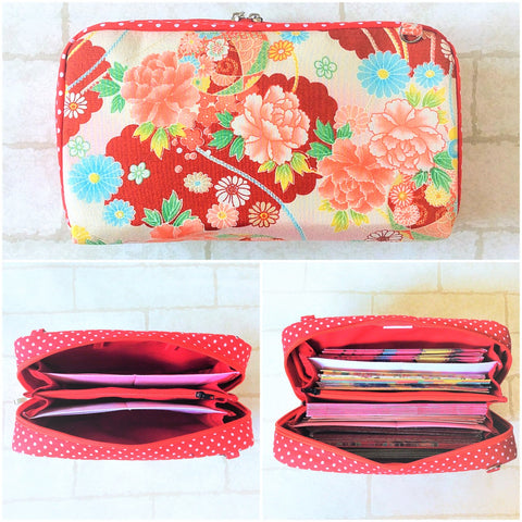 SPACIOUS Hong Bao Organizer | Ang Pao Wallet | Spacious Organizer 100 Red Packets | Floral Design 13B05