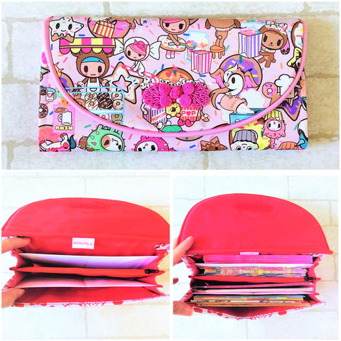 FLAP Ang Bao Organizer |  Pouch for Red Packets | Flap Organiser 50 Red Packets | Donutella Design 12B02