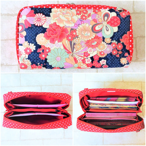 SPACIOUS Hong Bao Organizer | Ang Pao Wallet | Spacious Organizer 100 Red Packets | Floral Design 13B12
