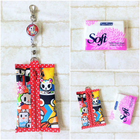 Pocket Tissue Pouch | Waterproof Pocket Tissue Pouch | Pocket Tokidoki Design 4B05
