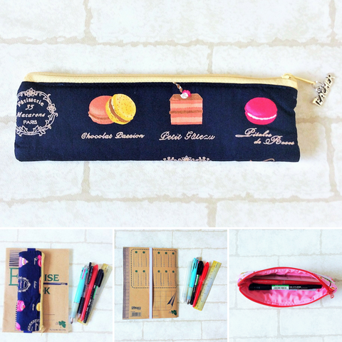 Pencil Pouch Book Band | Pencil Holder | Cupcake Design 3