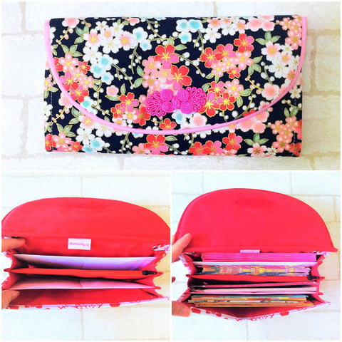 FLAP Ang Bao Organizer |  Pouch for Red Packets | Flap Organiser 50 Red Packets | Flap Floral Design 14B14