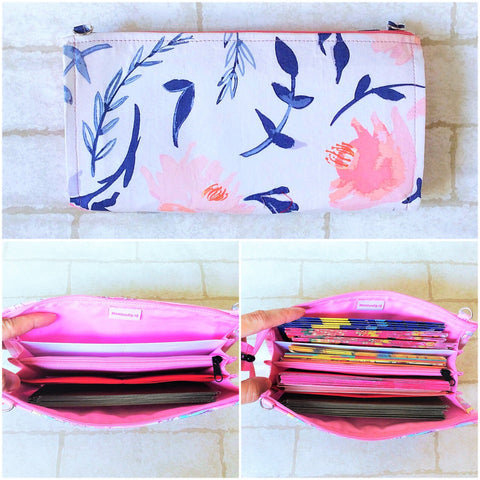 SLIM Red Packet Organizer | Ang Pow Organiser | Slim Organiser 70 Red Packets | Slim Floral Design 17B21