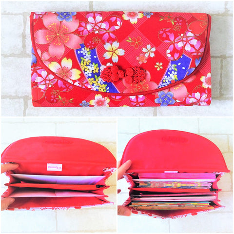 FLAP Ang Bao Organizer |  Pouch for Red Packets | Flap Organiser 50 Red Packets | Flap Floral Design 18B02