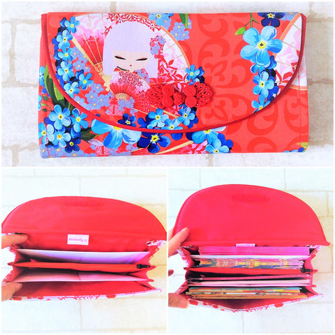 FLAP Ang Bao Organizer |  Pouch for Red Packets | Flap Organiser 50 Red Packets | Flap Kimidoll Design 18B04