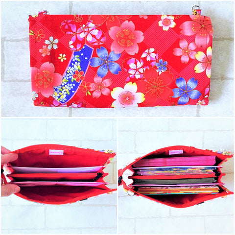 SLIM Red Packet Organizer | Ang Pow Organiser | Slim Organiser 70 Red Packets | Slim Floral Design 18B08