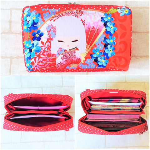 SPACIOUS Hong Bao Organizer | Ang Pao Wallet | Spacious Organizer 100 Red Packets | Spacious Kimidoll Design 18B16
