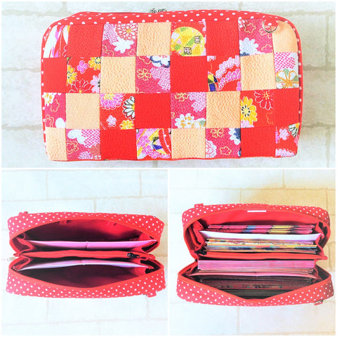 SPACIOUS Hong Bao Organizer | Ang Pao Wallet | Spacious Organizer 100 Red Packets | Spacious Patchwork Design 18B21