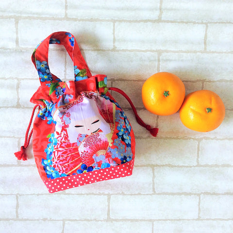 Mandarin Orange Carrier | Carrier for 4 Oranges | Chinese New Year Carrier | Orange Carrier Kimmidoll Design 18B28