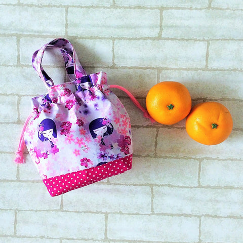 Mandarin Orange Carrier | Carrier for 4 Oranges | Chinese New Year Carrier | Orange Carrier Kimmidoll Design 18B32